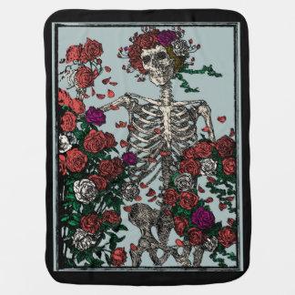 Skeleton & Roses Babydecke