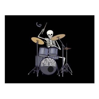 Skeleton Schlagzeuger Postkarte