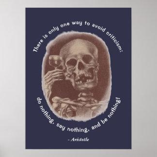 Skeleton Toast Aristoteles nur eine Möglichkeit zu Poster