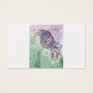 Skeleton Wasserfarbe des Wolfs lila/Grün Visitenkarte