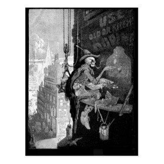 Skeleton Werbungspostkarte Postkarte