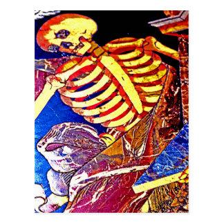Skelett auf Boden-Grab, Malta Postkarte