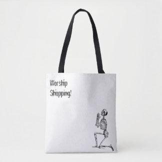 Skelett-betende Einkaufsanbetungs-Taschen-Tasche Tasche