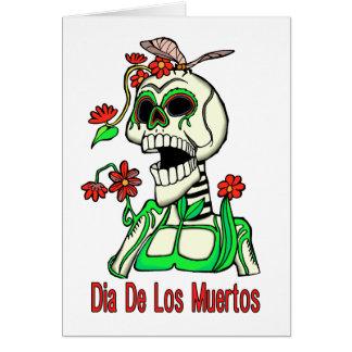 Skelett Dia De Los Muertos Laughing Karte