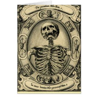 Skelett, Goth, mittelalterlich Karte