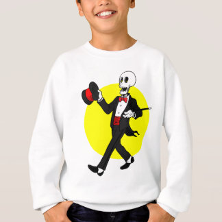 Skelett im Tuxedo-Anzug Sweatshirt