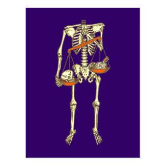 Skelett skeleton postkarte