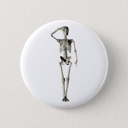 Skelett skeleton runder button 5,7 cm