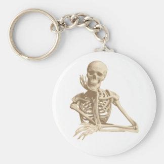 Skelett Standard Runder Schlüsselanhänger