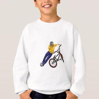 Skelett trägt BMX Sweatshirt zur Schau