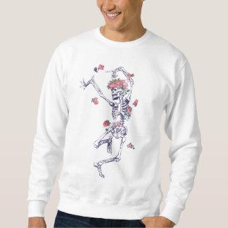 Skelett u. Rosen Sweatshirt