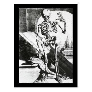 Skelett von Anatomia Humani Corporis Postkarte
