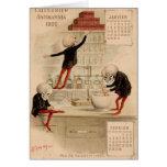 Skelettartige Apotheke Grußkarte