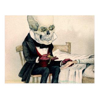 Skelettartige letzte Riten Postkarte