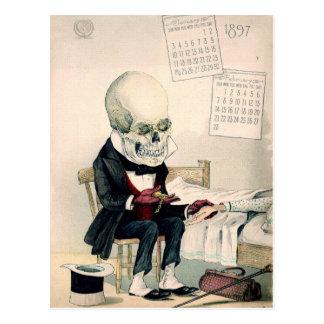 Skelettartige letzte Riten Postkarten