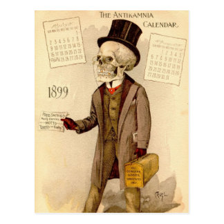 Skelettartiger Doktor Postkarten