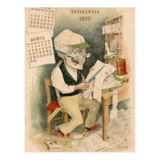 Skelettartiger Herausgeber Postkarten