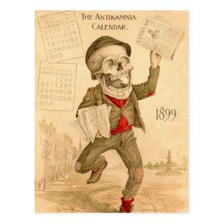 Skelettartiger Paperboy Postkarten