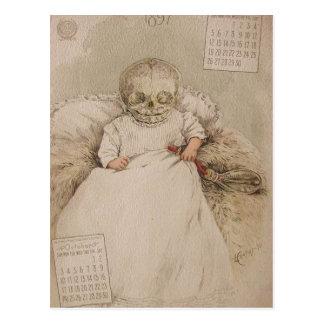Skelettartiges Baby Postkarte