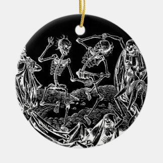 Skelette - Halloween Keramik Ornament