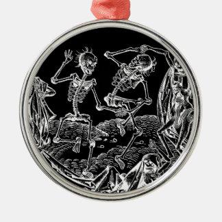 Skelette - Halloween Silbernes Ornament