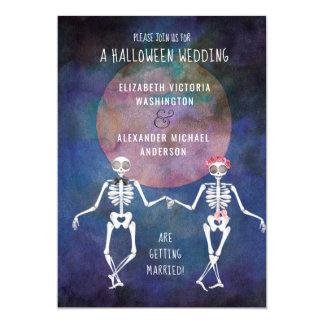 Skelette/Halloween-Thema-Hochzeits-Einladung Karte