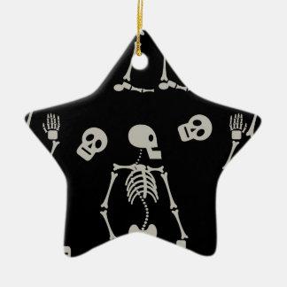 Skelette Keramik Ornament