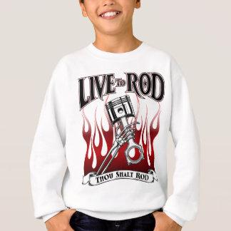 Skelette, Kolben und Flammen-Kleid Sweatshirt