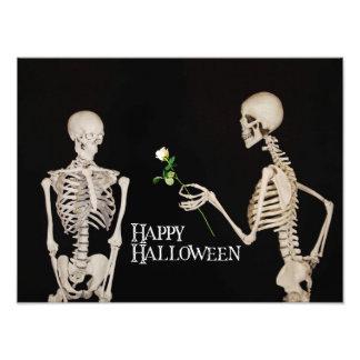 Skelette lustiges romantisches glückliches fotodruck