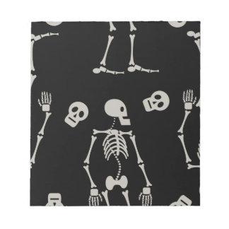 Skelette Notizblock