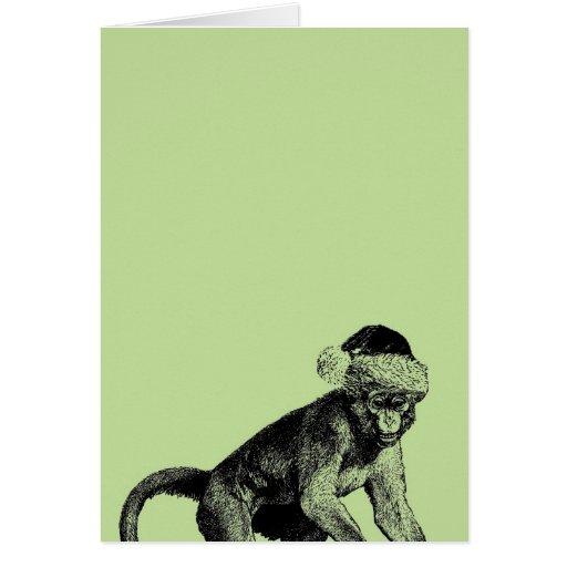 skeptischer affe atheistische weihnachtskarte karten zazzle. Black Bedroom Furniture Sets. Home Design Ideas