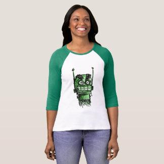 Sketchbot wütender Kopf (Grün) T-Shirt