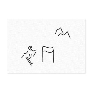 ski alpin skifahrer leinwanddruck