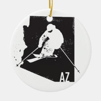 Ski Arizona Rundes Keramik Ornament
