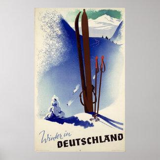 Ski Deutschland im Winter Poster
