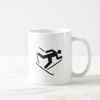 Ski fahren kaffeetasse