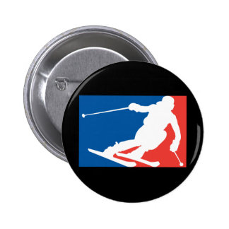 Ski fahren runder button 5,7 cm