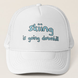 Ski fahren truckerkappe