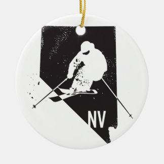 Ski Nevada Keramik Ornament