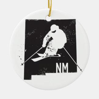 Ski-New Mexiko Rundes Keramik Ornament