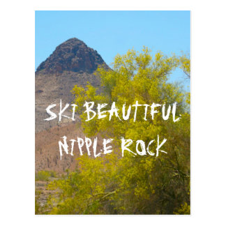 Ski-Nippel-Felsen Postkarte