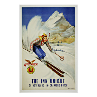 Ski Notchland Crawford Vintage Reise Plakatdruck