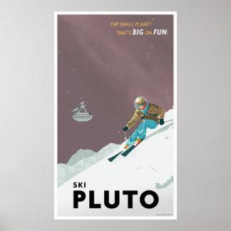 Ski Pluto - großes Format Poster