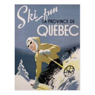 Ski Quebec Postkarte
