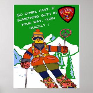 Ski-Schulplakat Poster