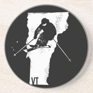 Ski Vermont Sandstein Untersetzer