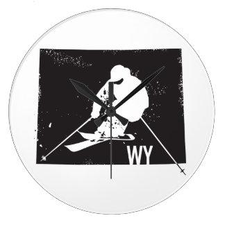 Ski Wyoming Große Wanduhr