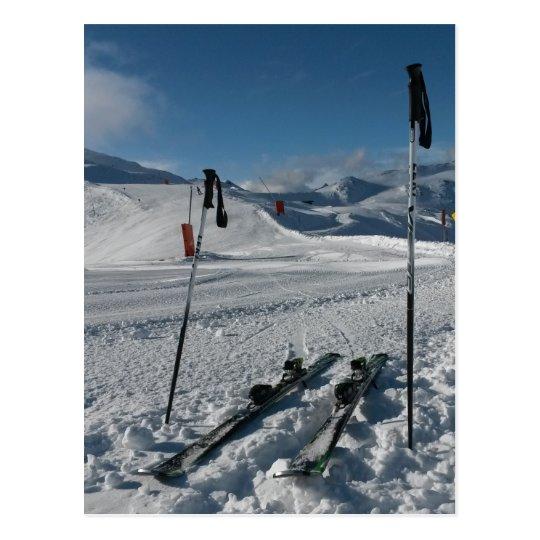 Skier Skipiste Postkarte