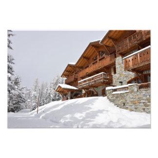 Skierholungsort-Chalet-Fotodruck Fotodruck