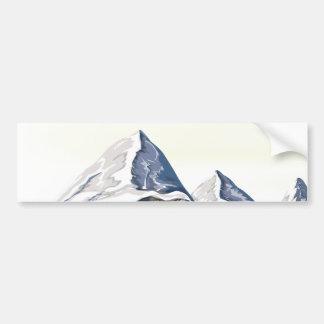 Skifahren-Berge Autoaufkleber